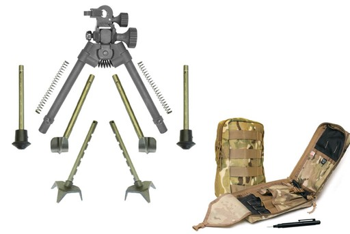 Versa-Pod Battle Pack 2.0 Bipod 9 to 12 inch Adjustable with Leg Sets