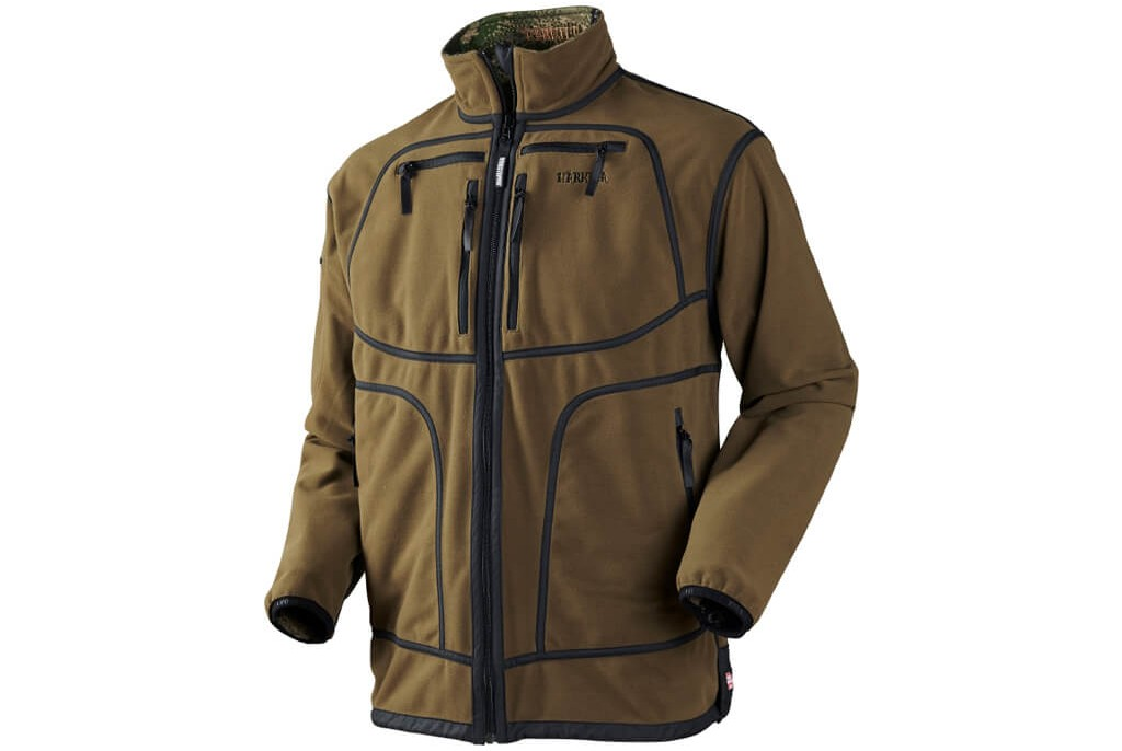 Image of Harkila Q Fleece Jacket Optifade Ground Forest Reversible
