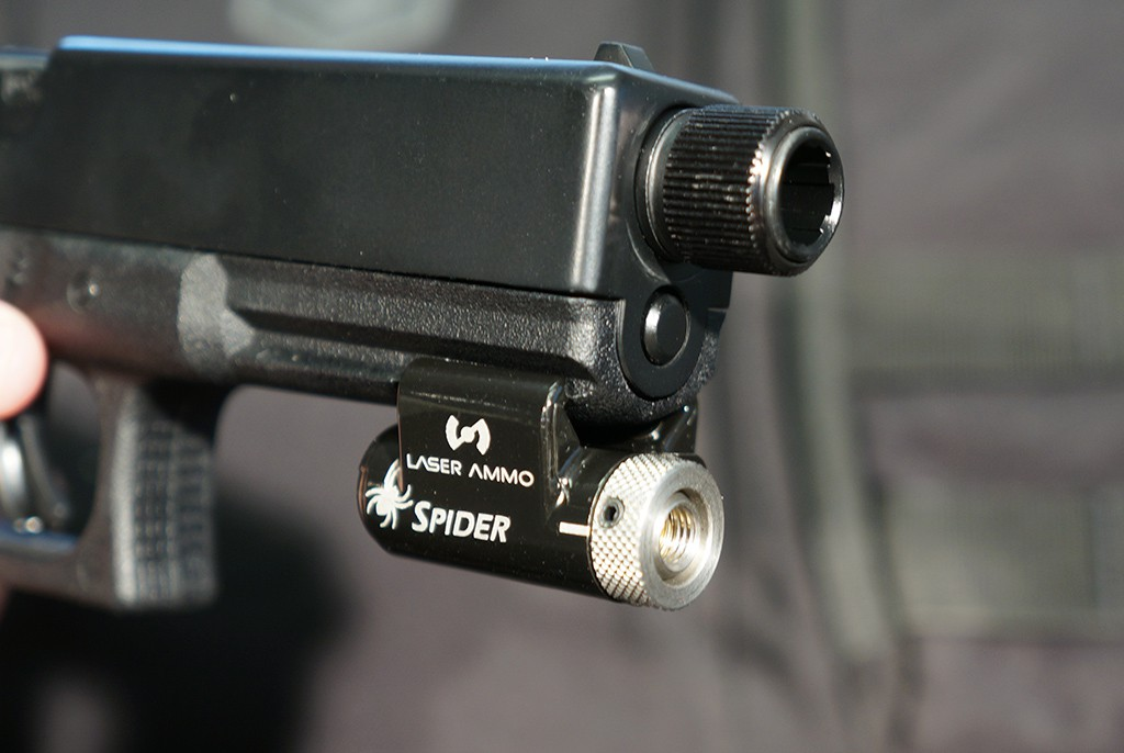 Image of Laser Ammo Spider SureStrike Rail Mounted Laser System