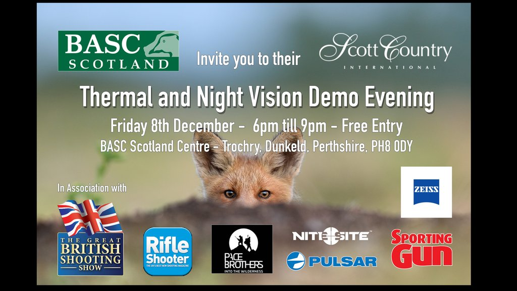 BASC Scotland Night Vision and Thermal Imaging Demo Evening