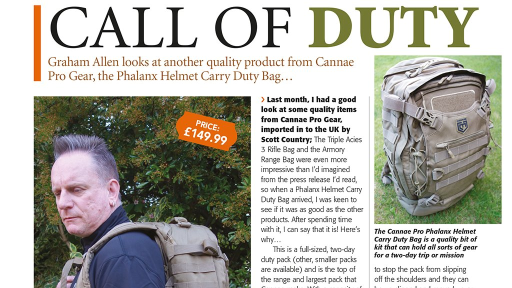 Is the Cannae Phalanx the best tactical backpack on the market?...Graham from Gunmart finds out