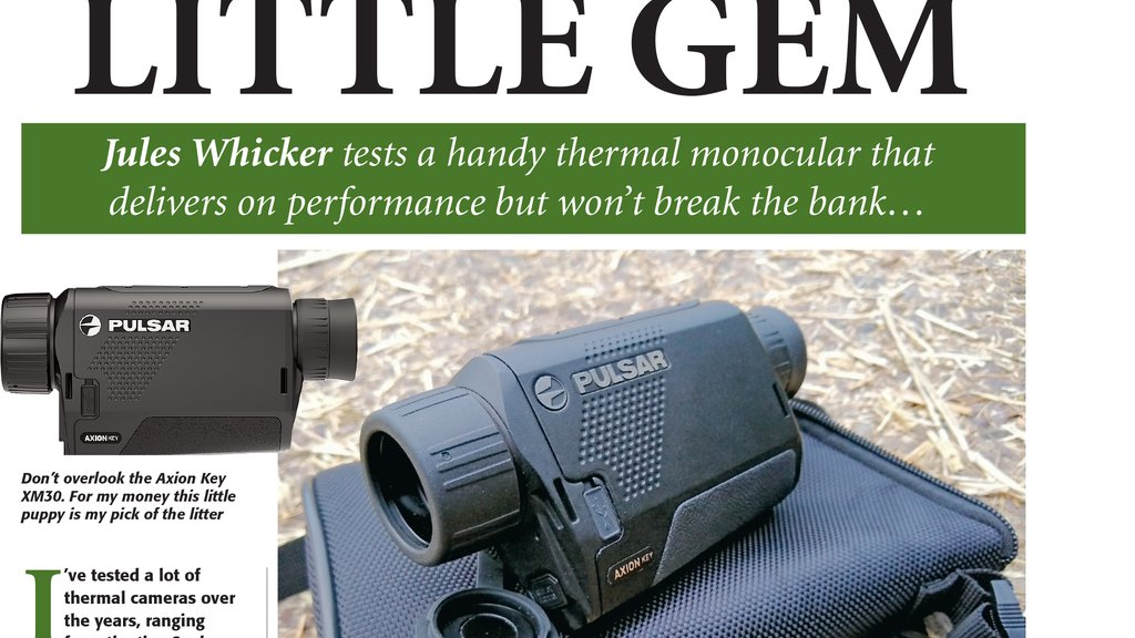Jules Whicker takes a look at the new Pulsar Axion Key XM30 Thermal Imager