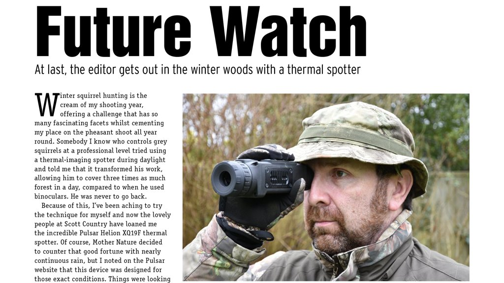 Phill Price from Airgunner Magazine reviews the Pulsar Helion XQ19F