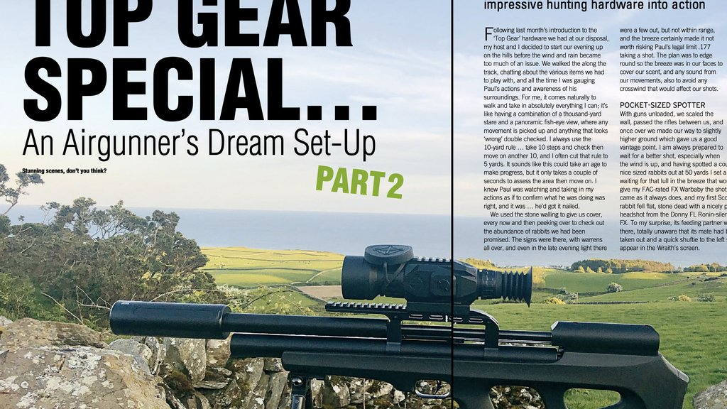 Top Gear Special with Airgun World Mag with Sightmark Wraith and Pulsar Axion Key