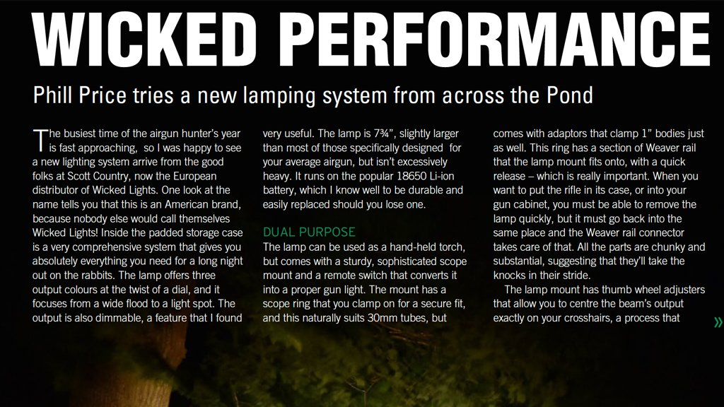 Wicked Performance - Airgun World reviews the new Wicked Hunting Lights