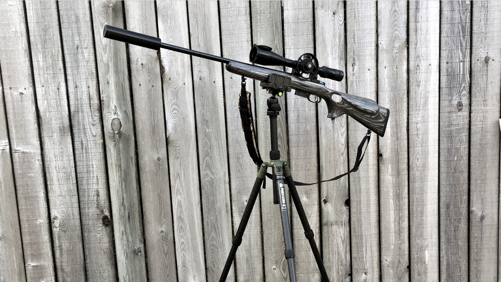 Wicked Rekon Tripod with Mike Powell's rifle set up